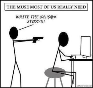 Muse with a gun