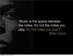 space between notes